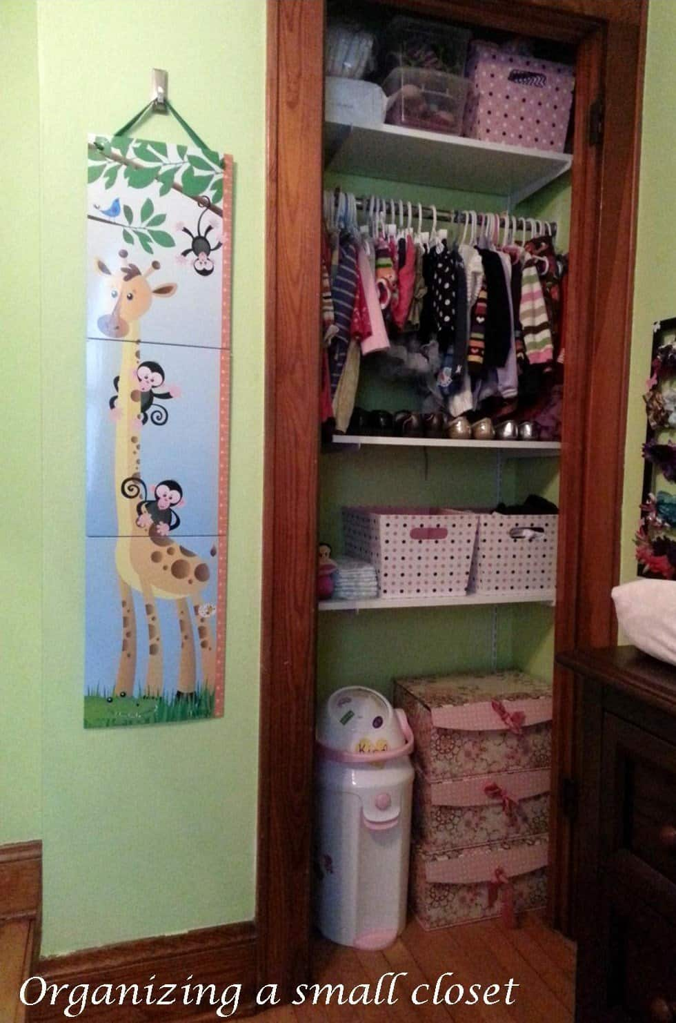organize small bedroom closet organizing a small nursery or room creative ramblings 16573