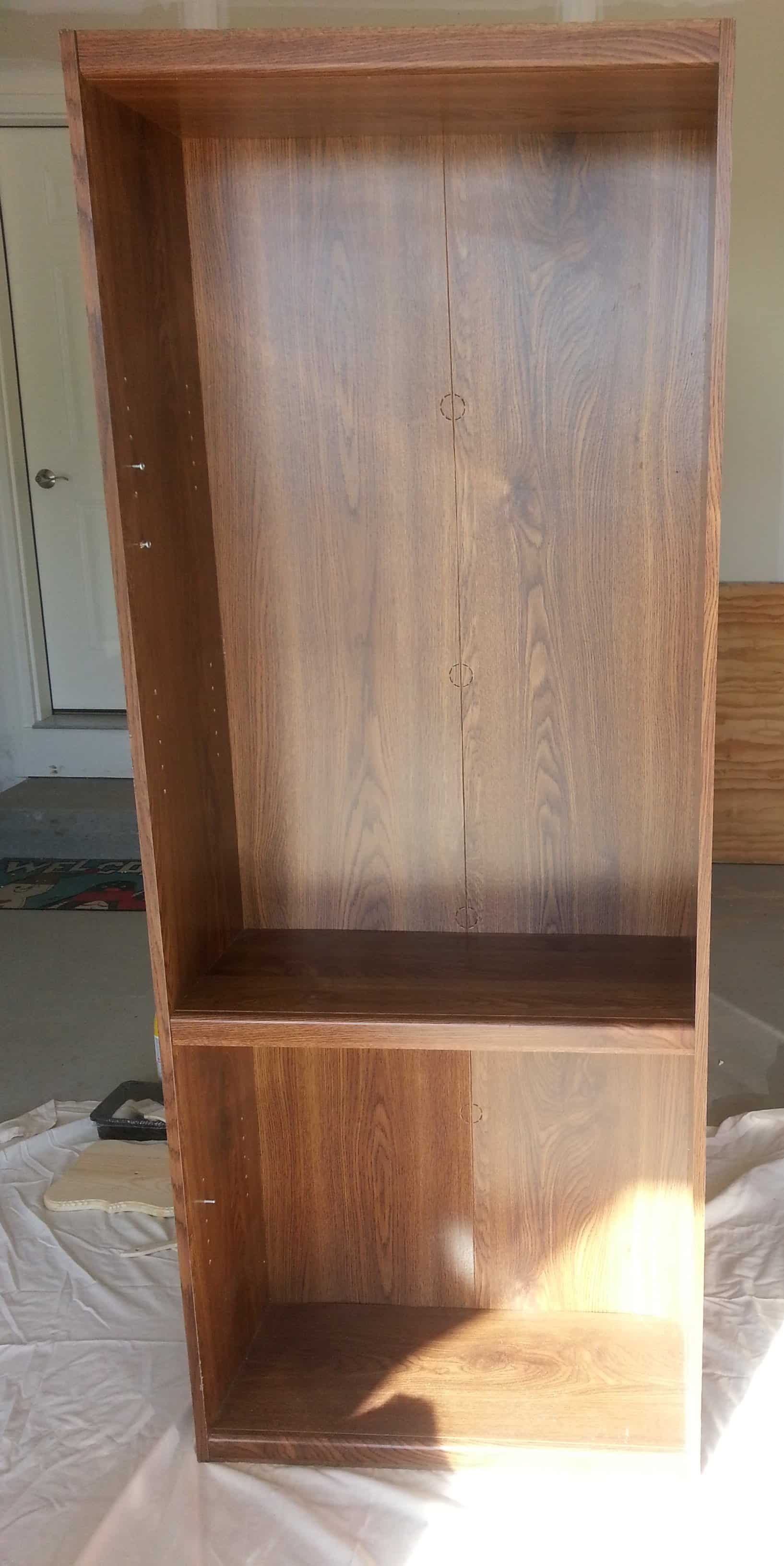 Can You Paint Laminate Furniture #35: Bookshelf Before. This Is A Laminate Bookcase And YES You Can Paint Laminate Furniture.