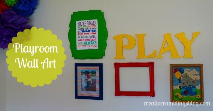 Playroom wall art