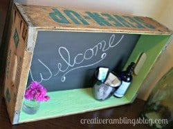 Soda Crate Turned Message Board