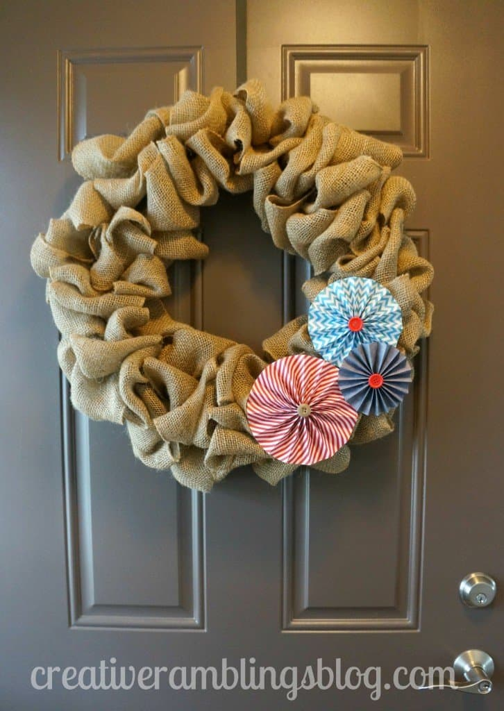 Burlap Wreath Tutorial, easy to follow and so versatile