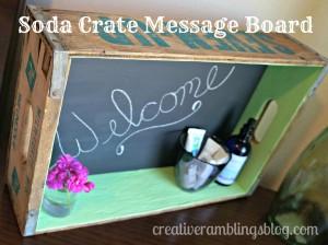 Soda Crate Message Board