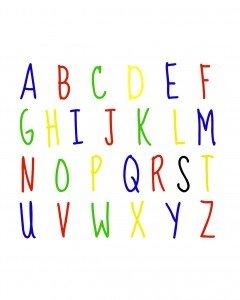 ABC primary color print