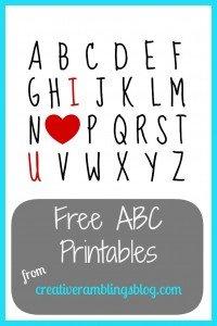 ABC printables