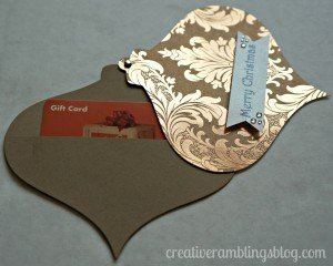 Ornament gift card holder