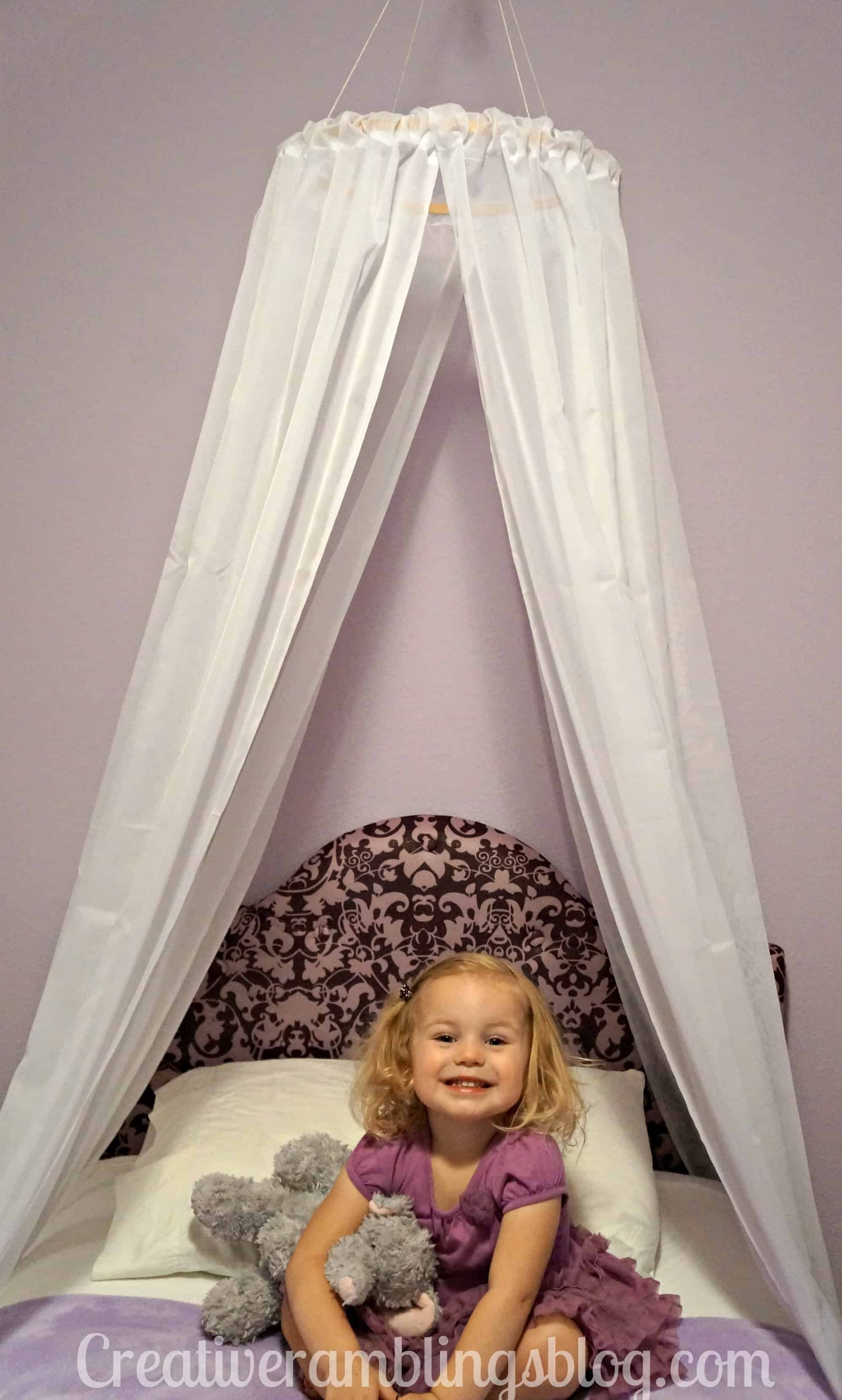 easy diy princess canopy creative ramblings. Black Bedroom Furniture Sets. Home Design Ideas