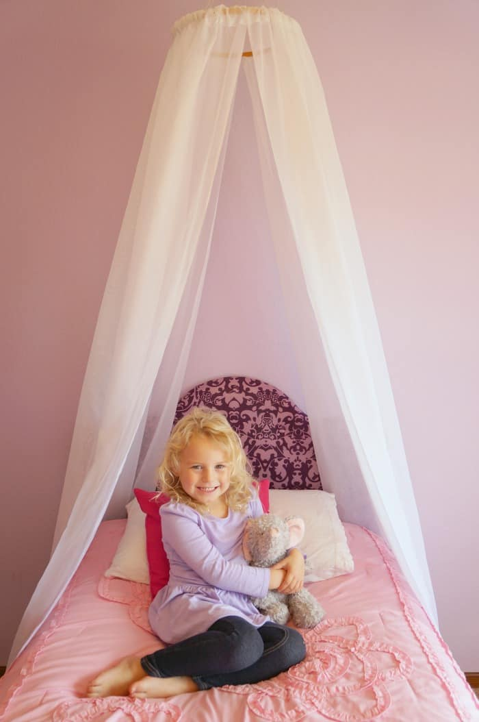 Easy DIY princess canopy  sc 1 st  Creative Ramblings : canopy for toddler princess bed - memphite.com