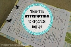 How I am attempting to organize my life