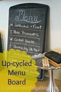 upcycled menu board