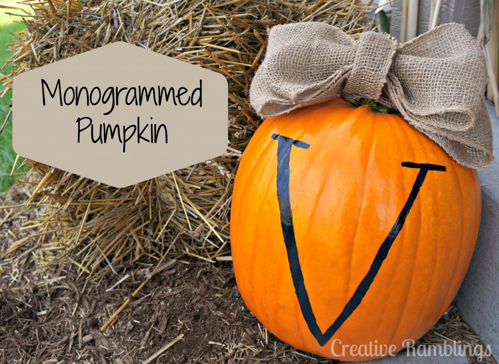 monogram pumpkin cover photo