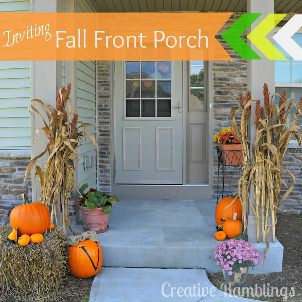Inviting fall front porch