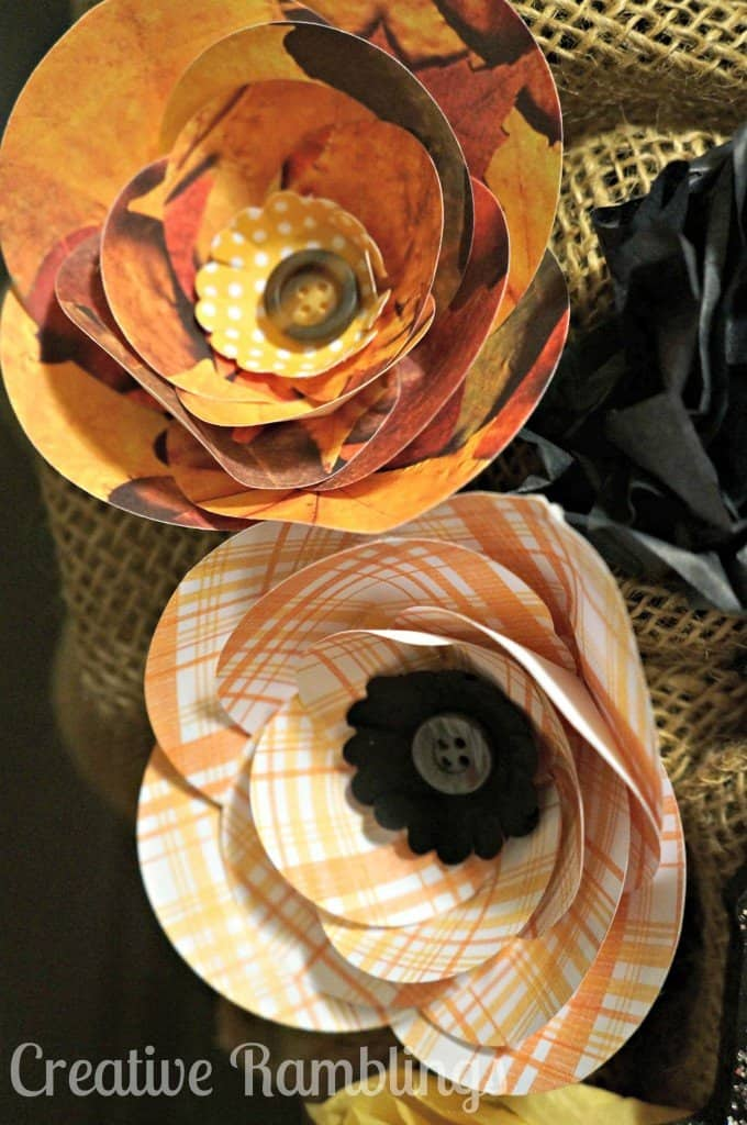 Halloween Wreath Paper Flowers