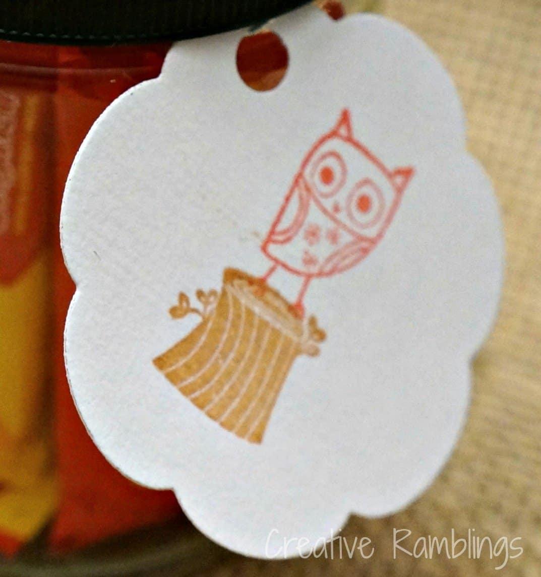 Halloween owl tag