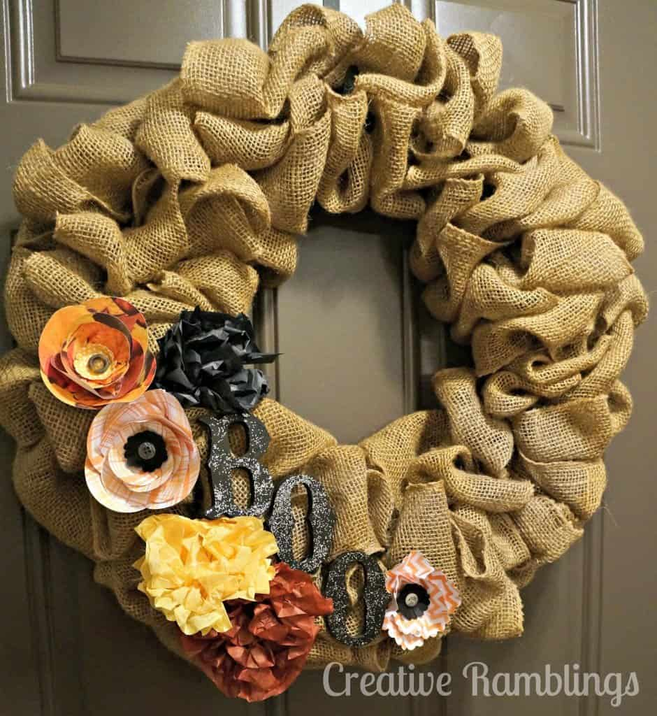 Halloween wreath full
