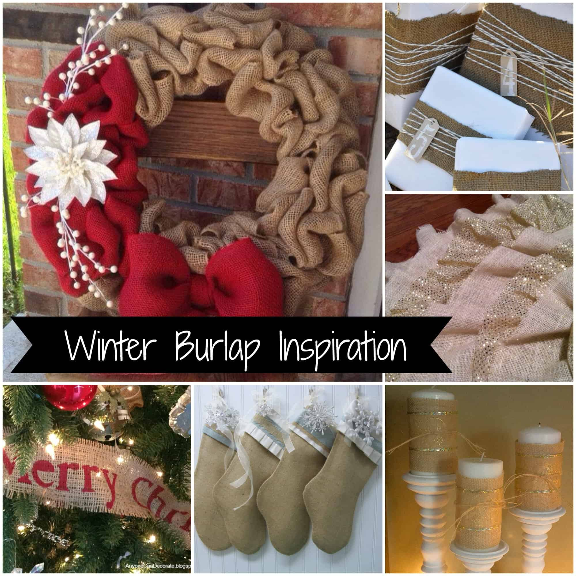 winter burlap inspiration