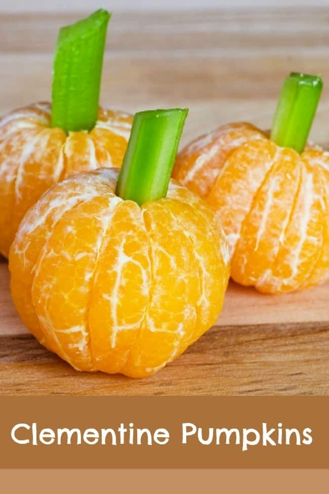 clemetine pumpkin halloween treat