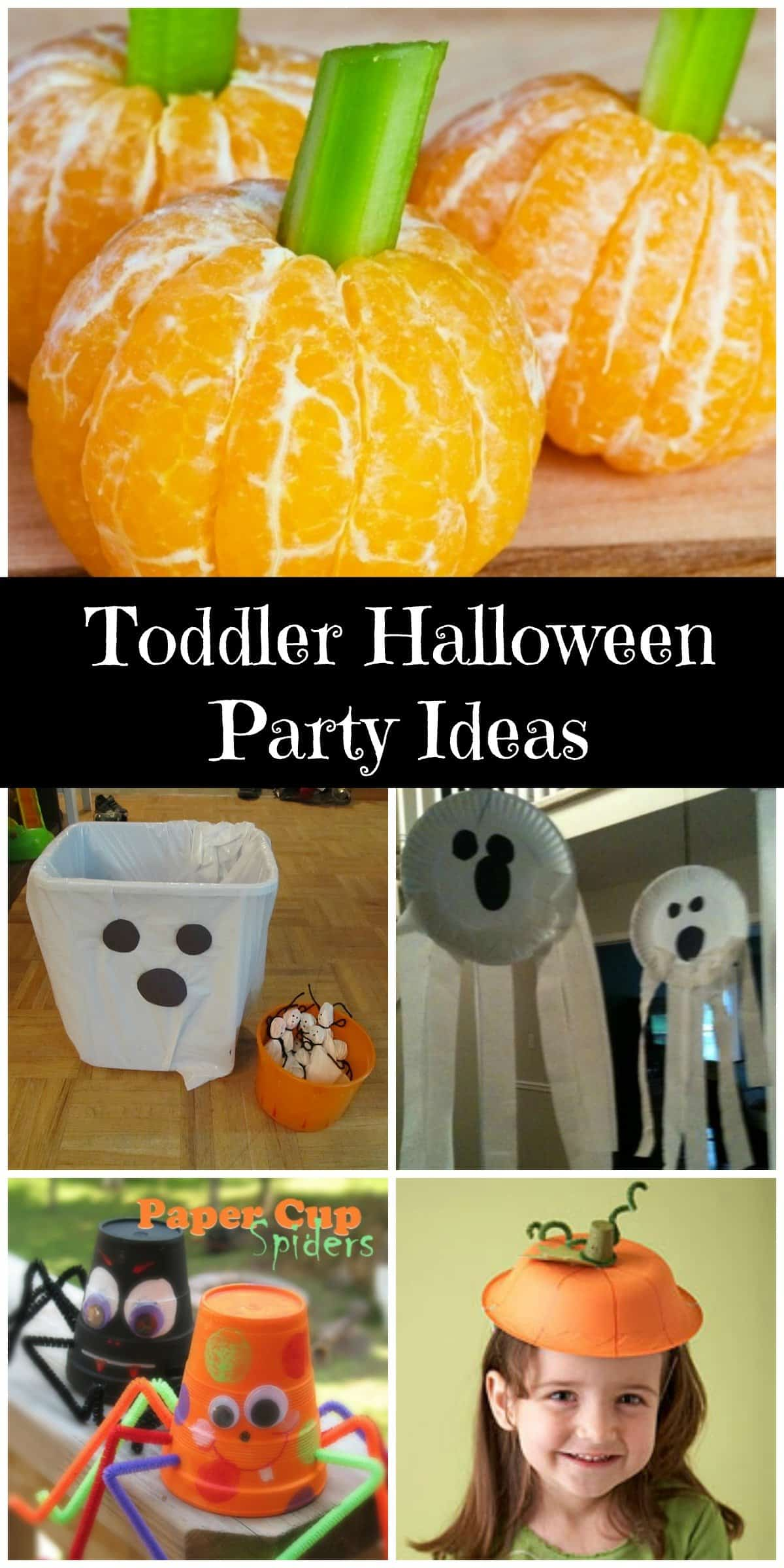 Toddler friendly Halloween party. Great ideas to help you plan a party.