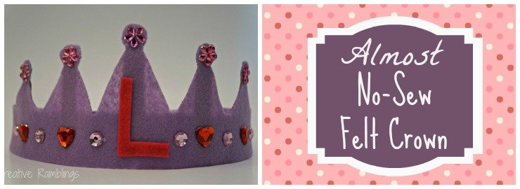 Almost no-sew felt crown