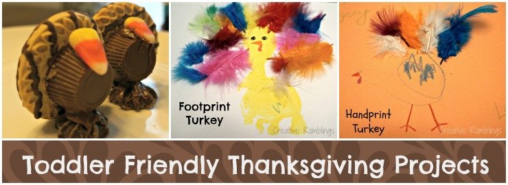 Toddler Friendly Thanksgiving Crafts