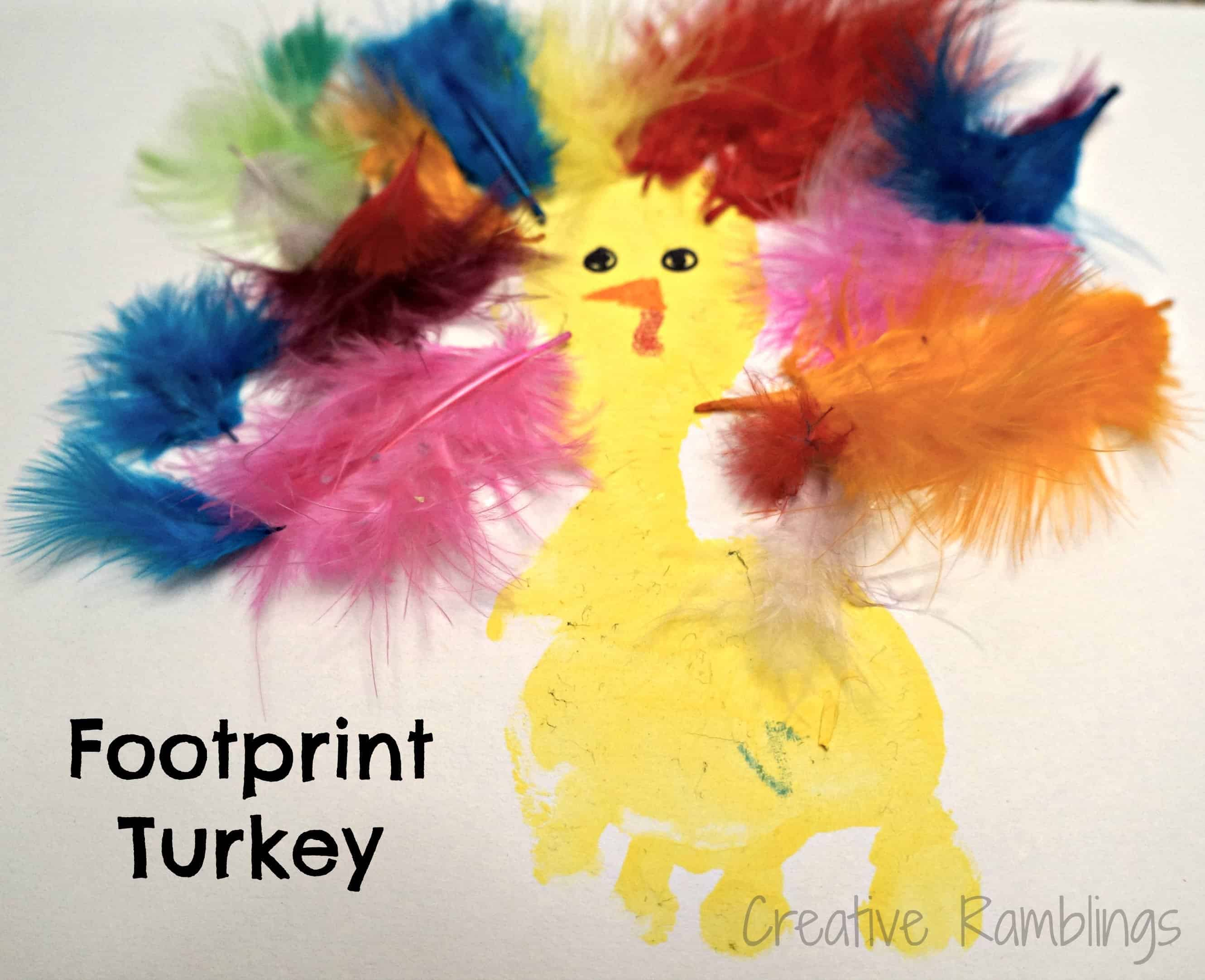 Toddler Footprint Turkey Craft