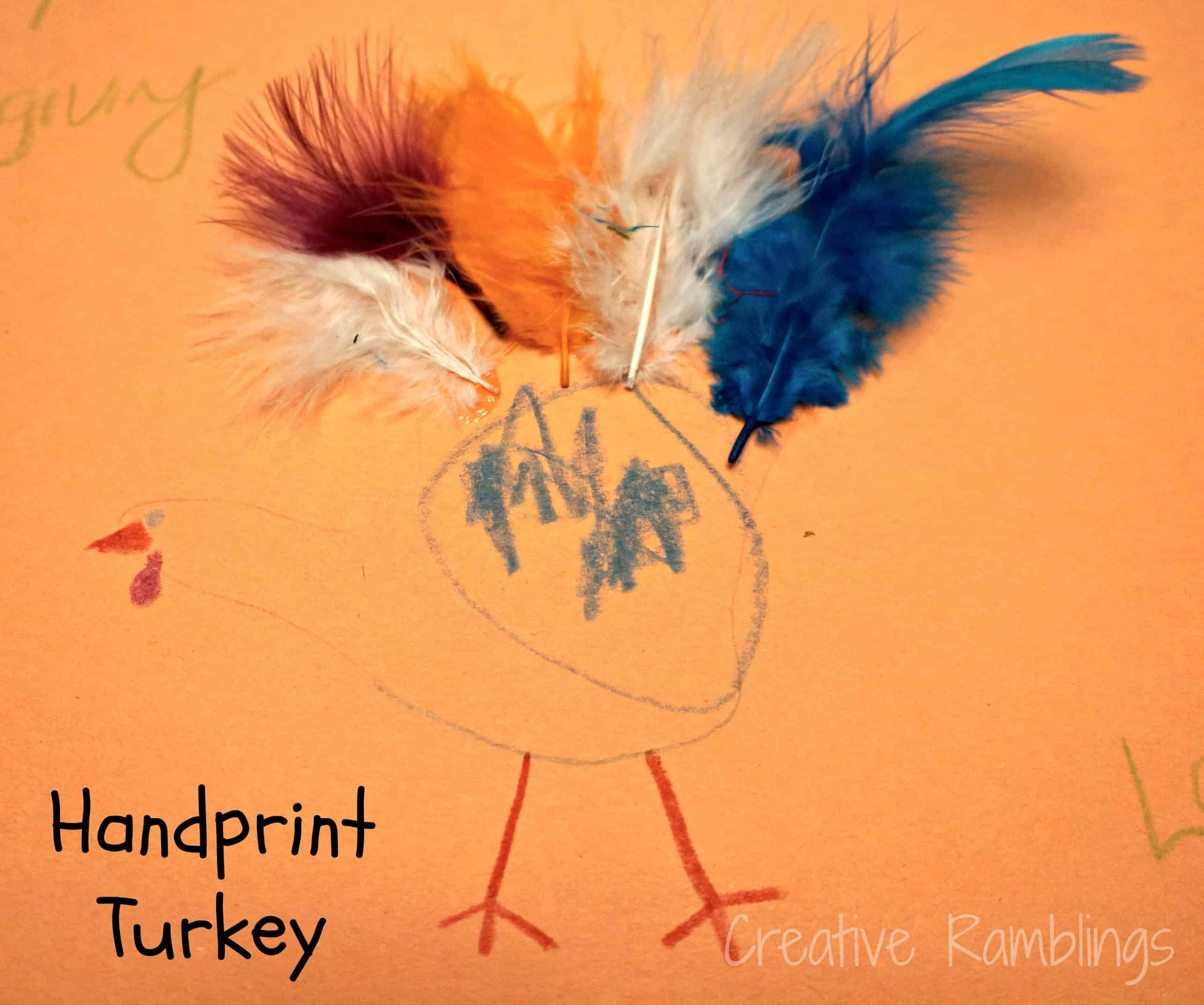 toddler handprint turkey craft