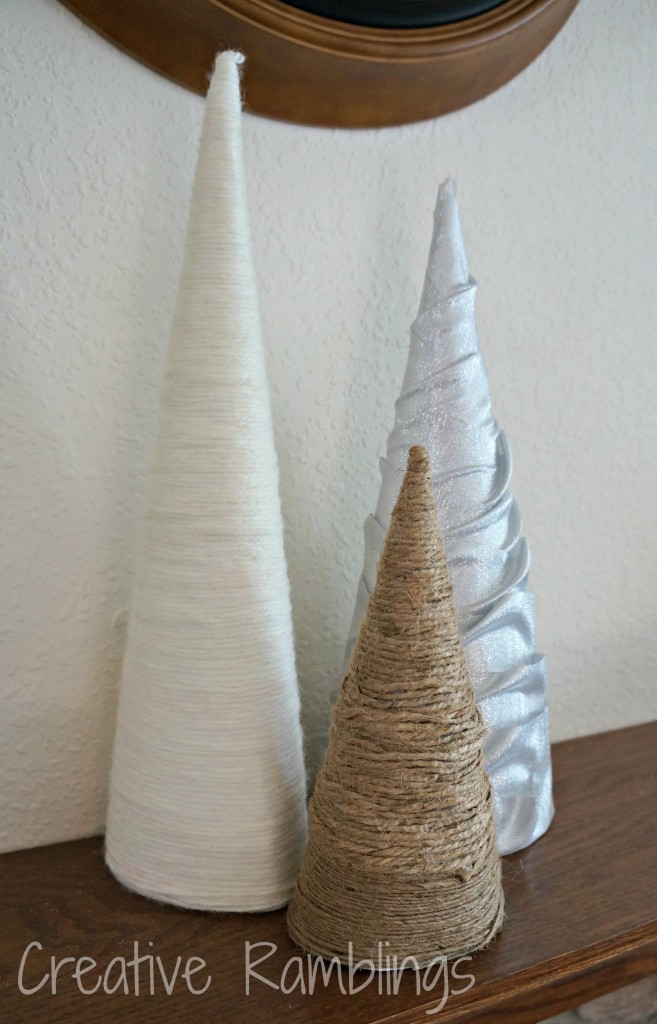 wrapped paper cones - easy winter DIY