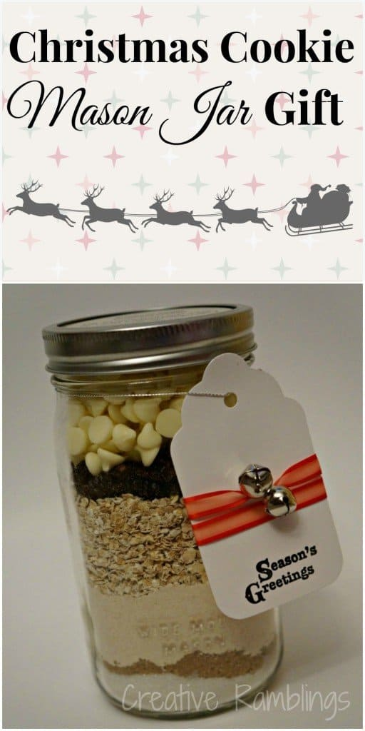Christmas cookie mason jar gift
