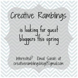 Creative Ramblings guest blogger