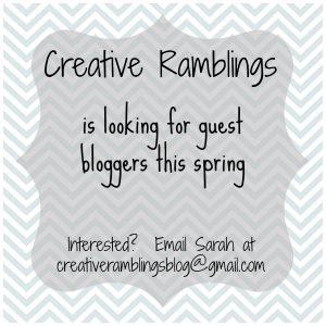 Creative Ramblings guest blogger