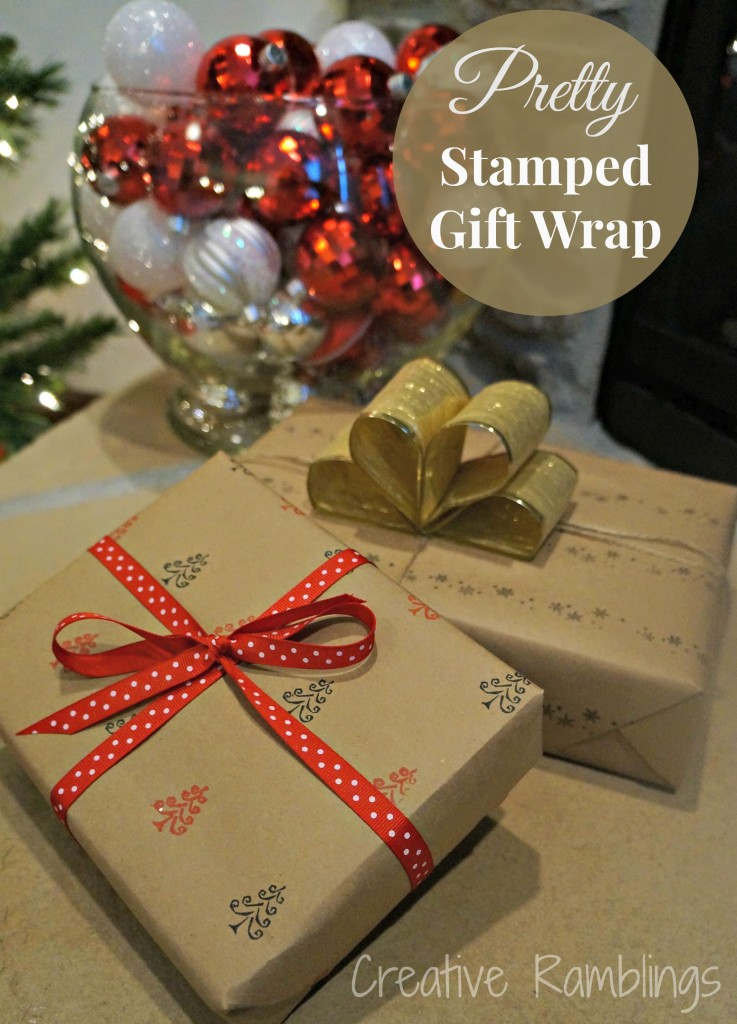 Pretty Stamped Gift Wrap