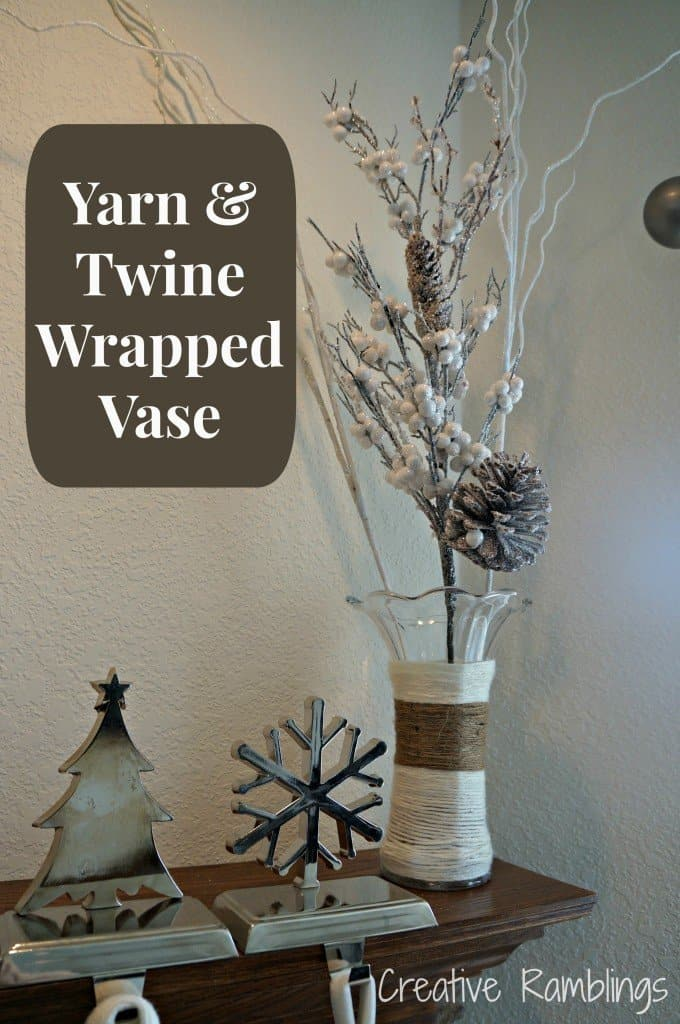 Yarn & Twine Wrapped vase