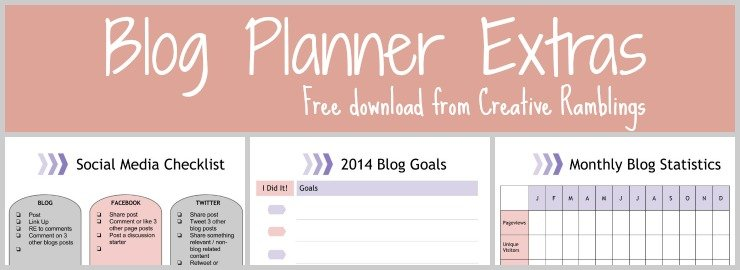 Blog Planner Extras – Free Download