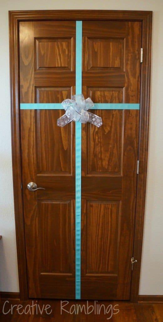 wrapped door