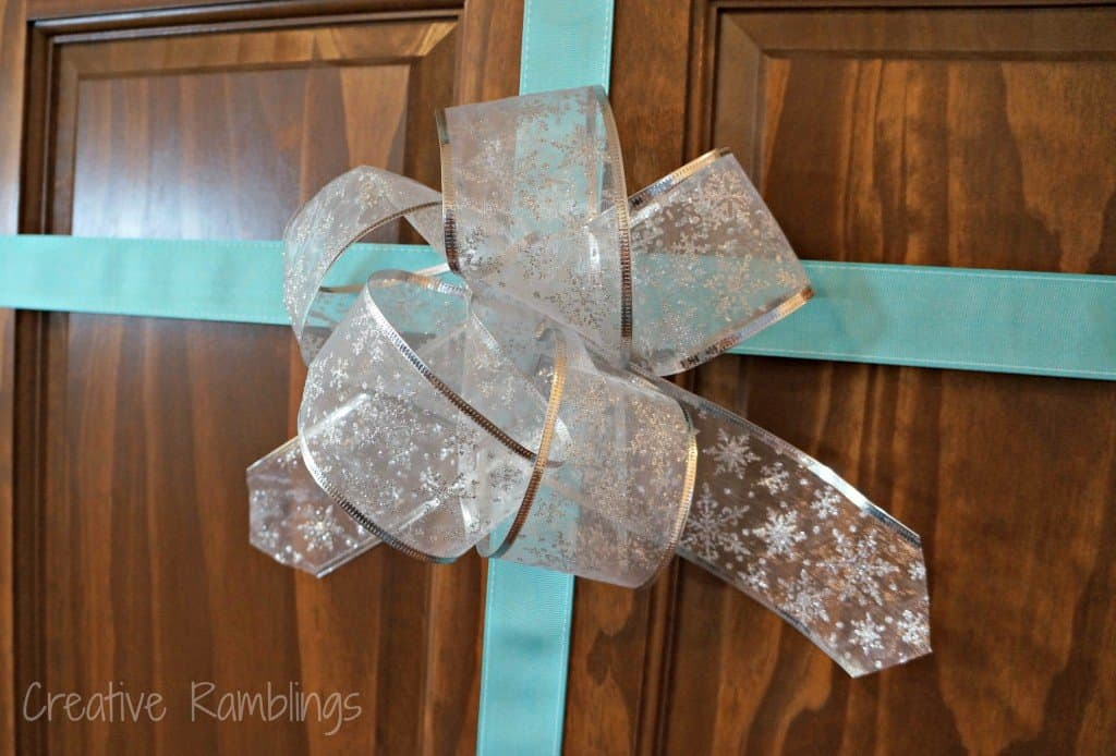 wrapped door bow