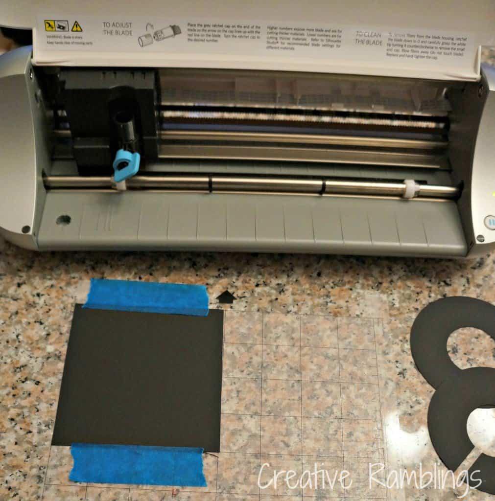 closet dividers on cutting mat