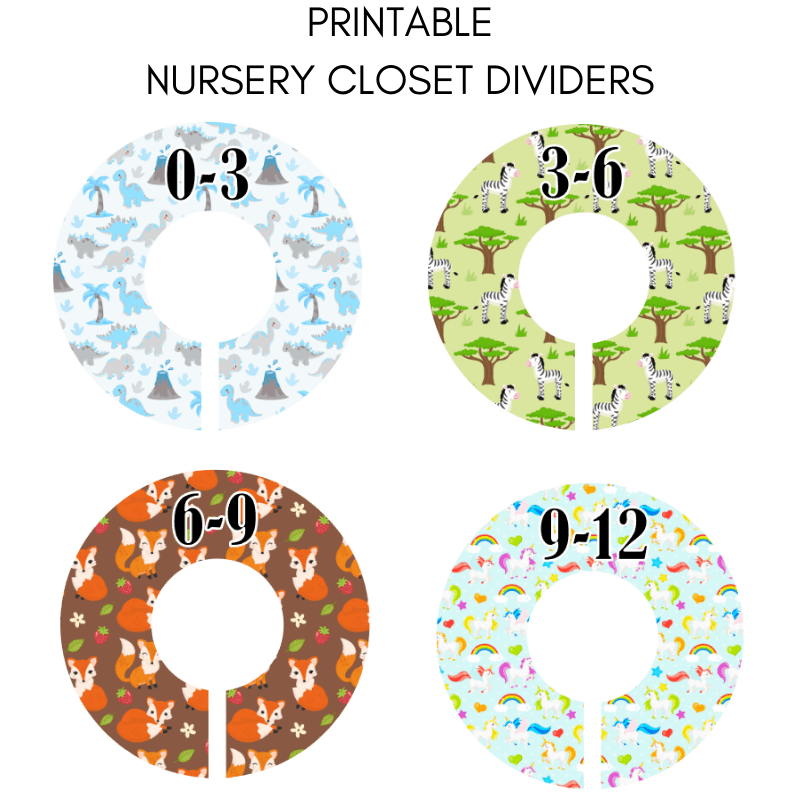graphic relating to Printable Closet Dividers known as Nursery Closet Dividers Silhouette Lower Report - Imaginative