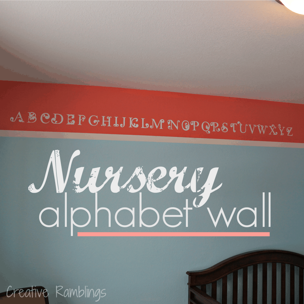 nursery alphabet wall