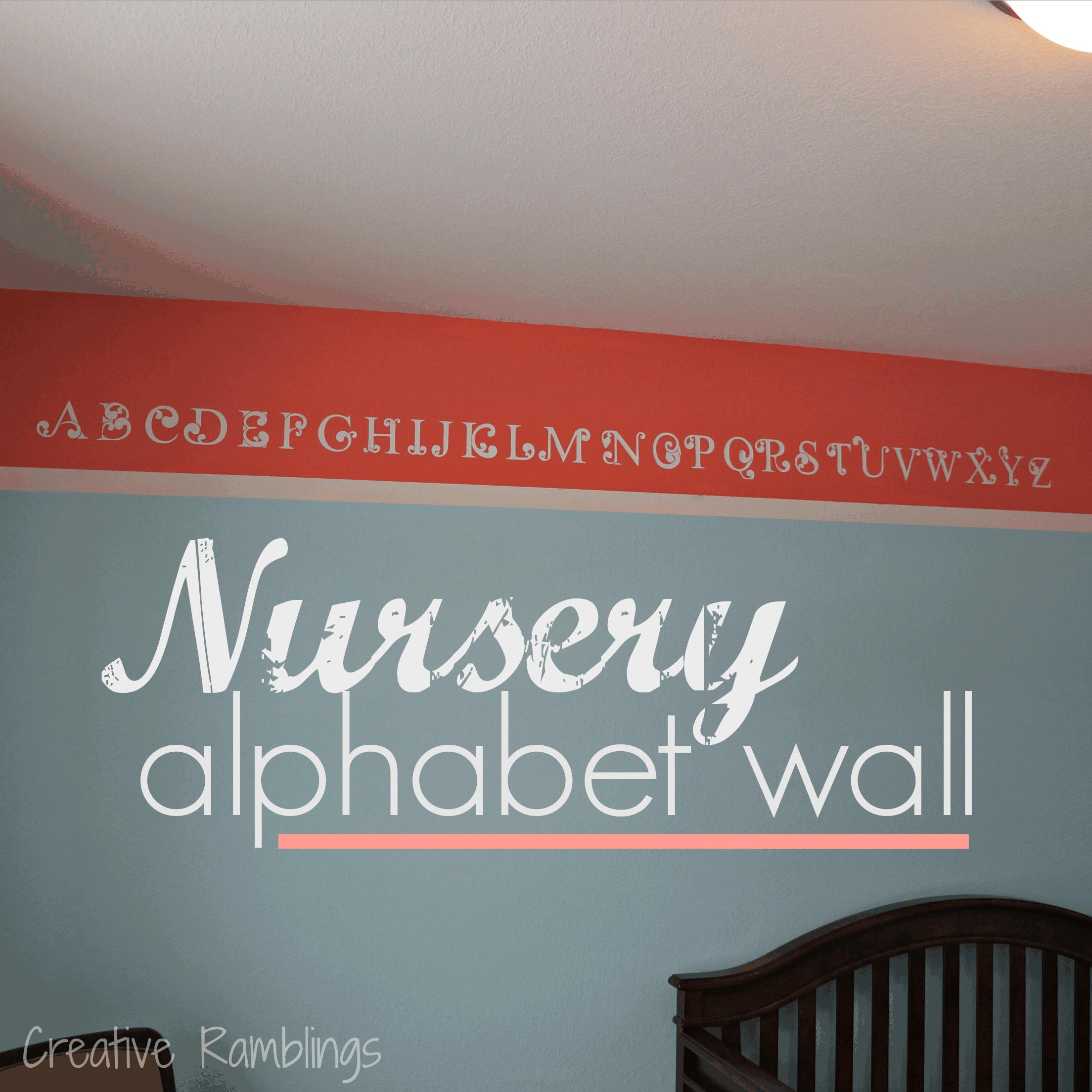Nursery Alphabet Wall