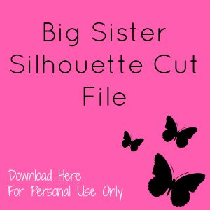 big sis pillow download silhouette cut file here