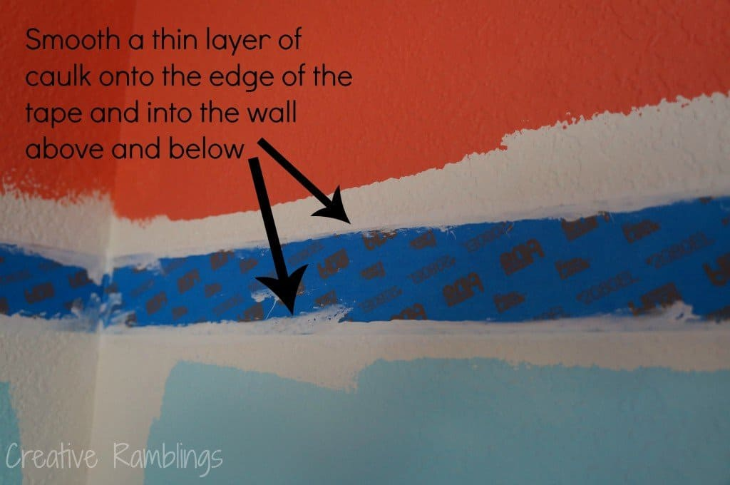 Painting a stripe on a textured wall