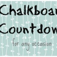 Easy Chalkboard Countdown