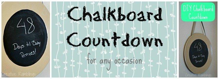 Easy Chalkboard Countdown