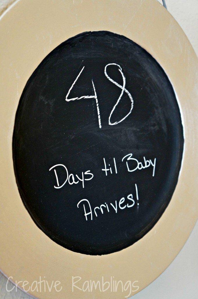 chalkboard countdown plate