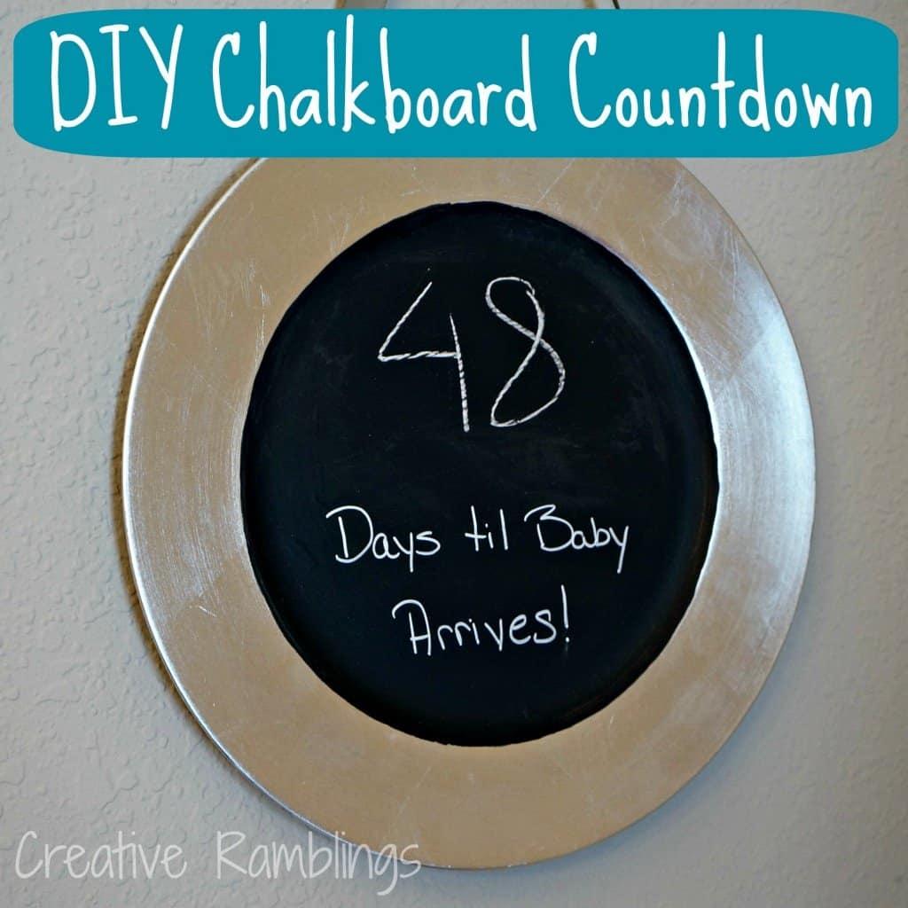 DIY chalkboard countdown plate