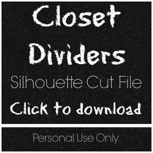 Nursery Closet Dividers Amp Silhouette Cut File Creative Ramblings