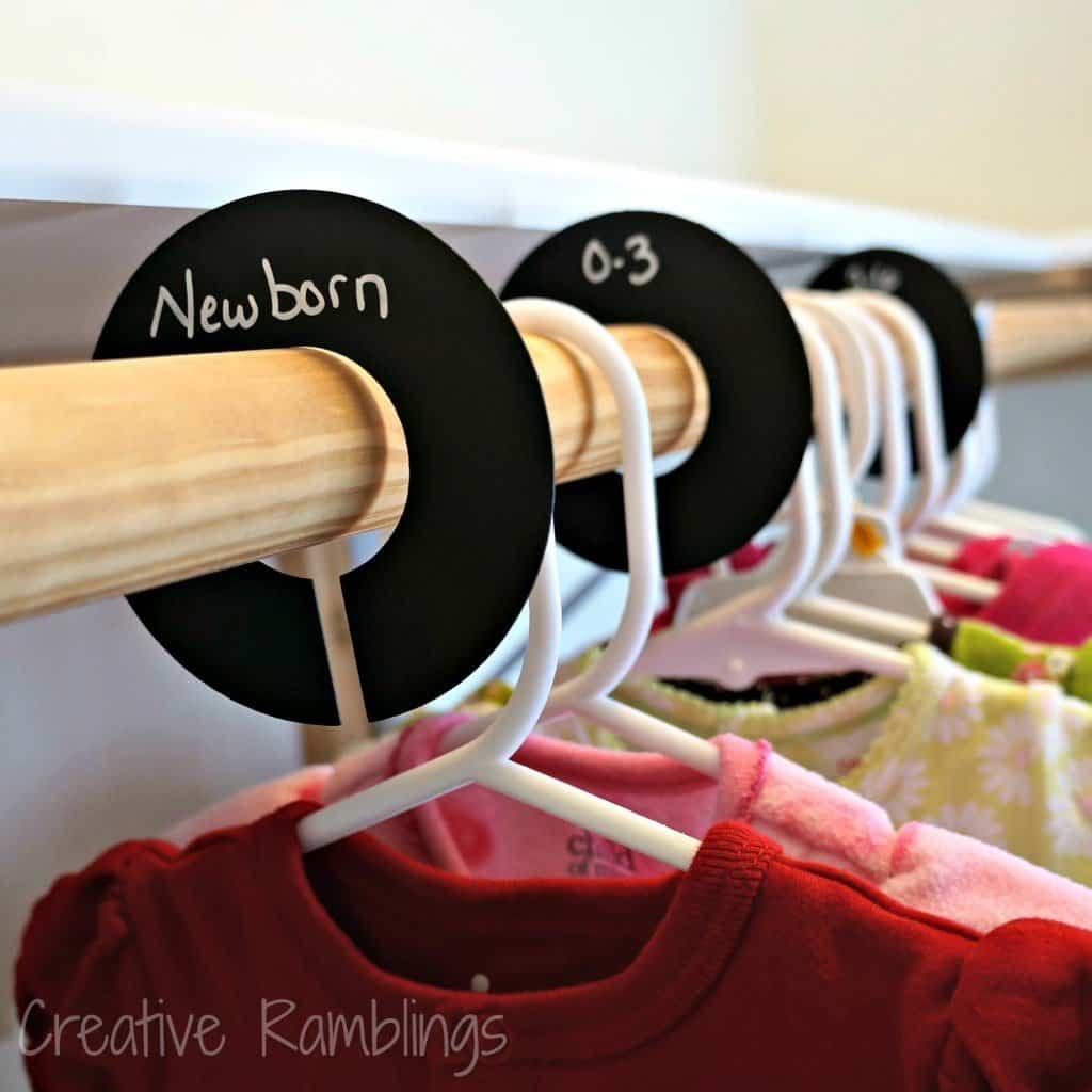 Nursery closet dividers