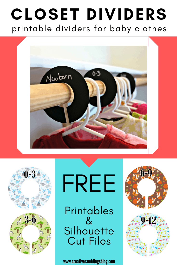 nusery closet divider printables