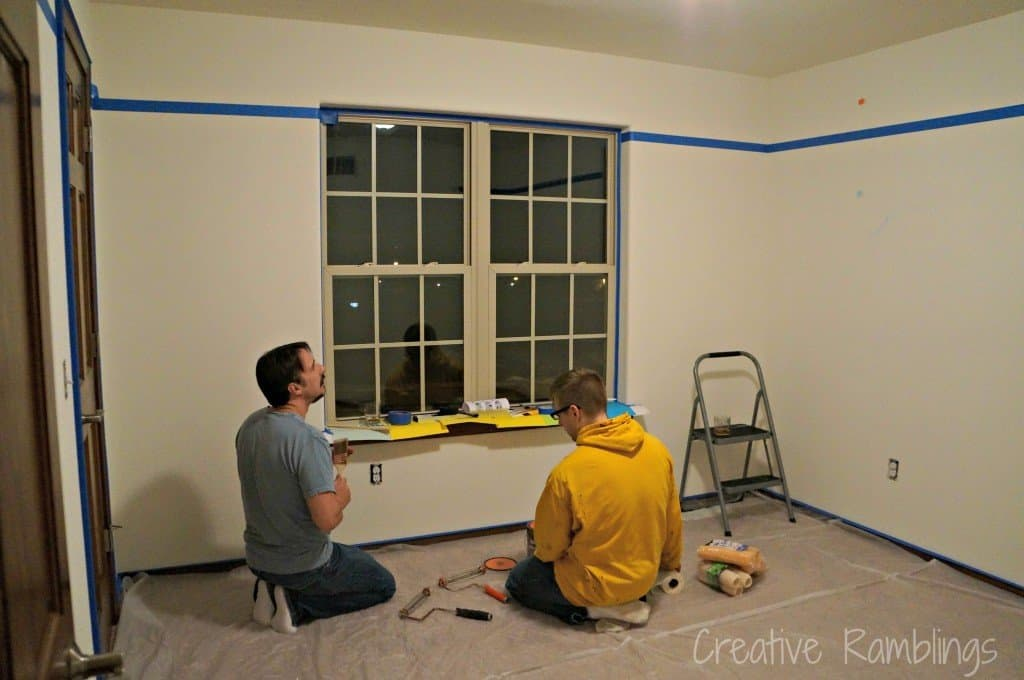 paint prep - a taped room