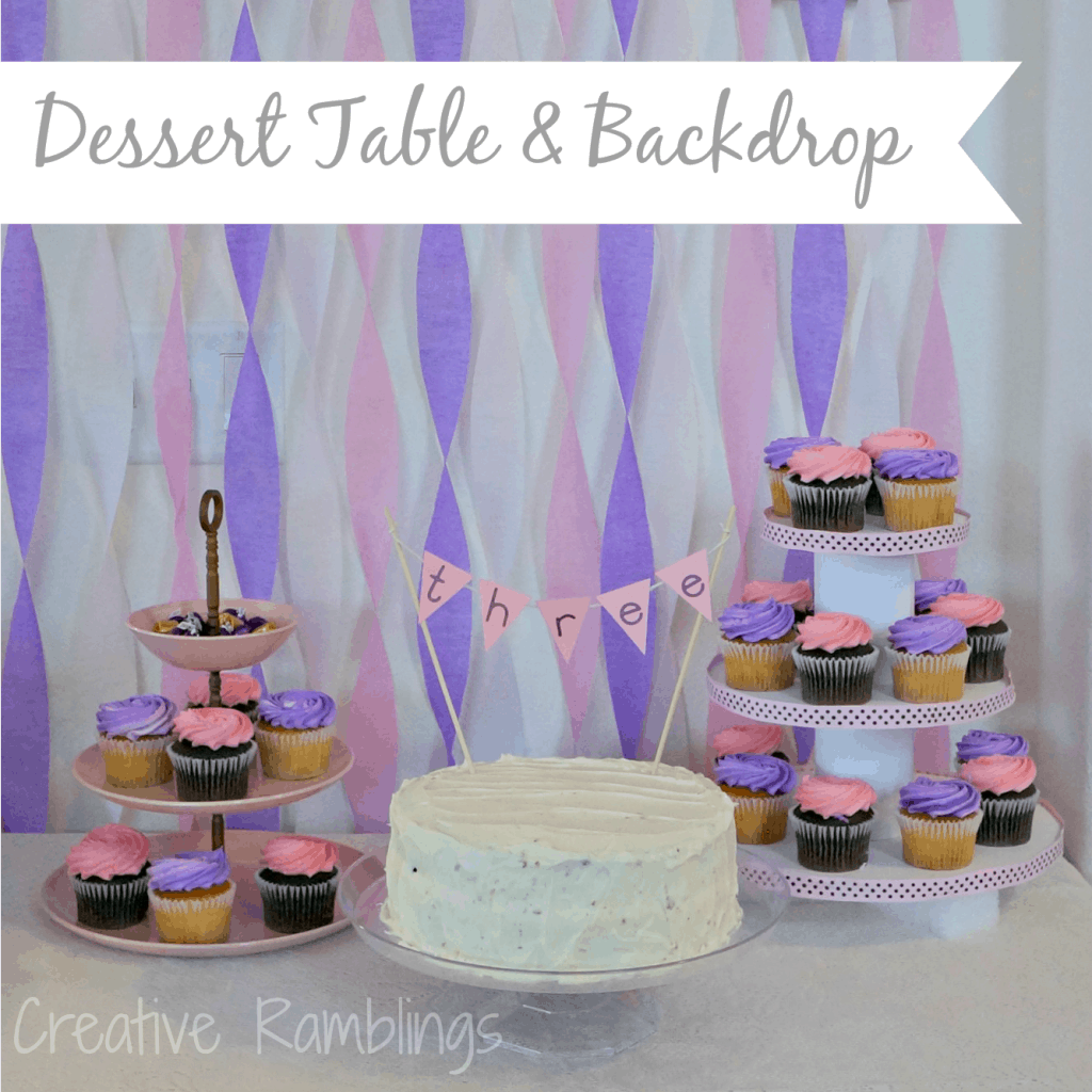 Birthday Dessert Table With Backdrop Creative Ramblings