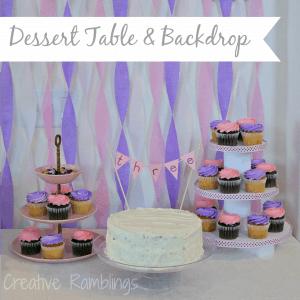dessert table & backdrop